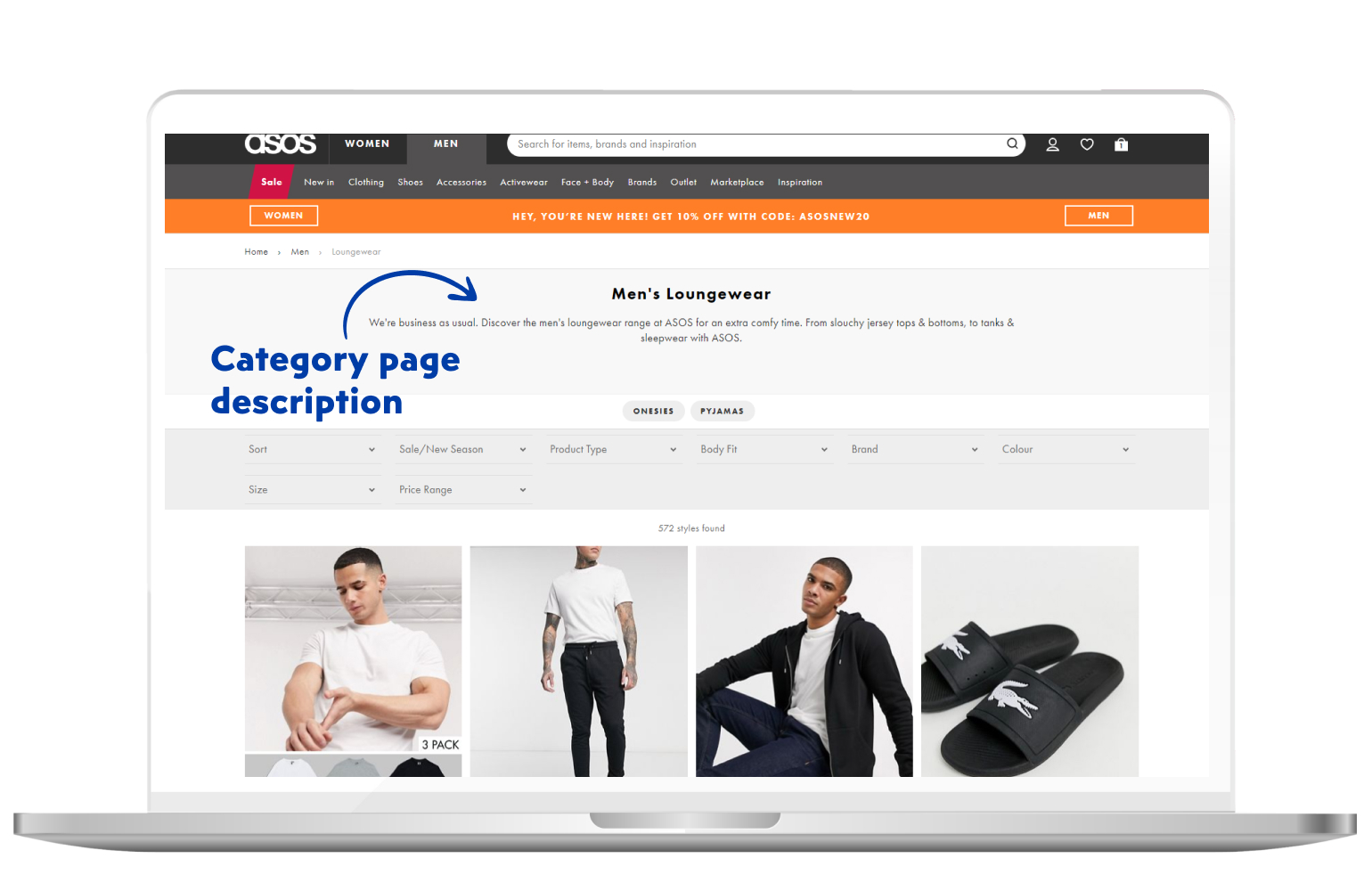 Category page description in eCommerce