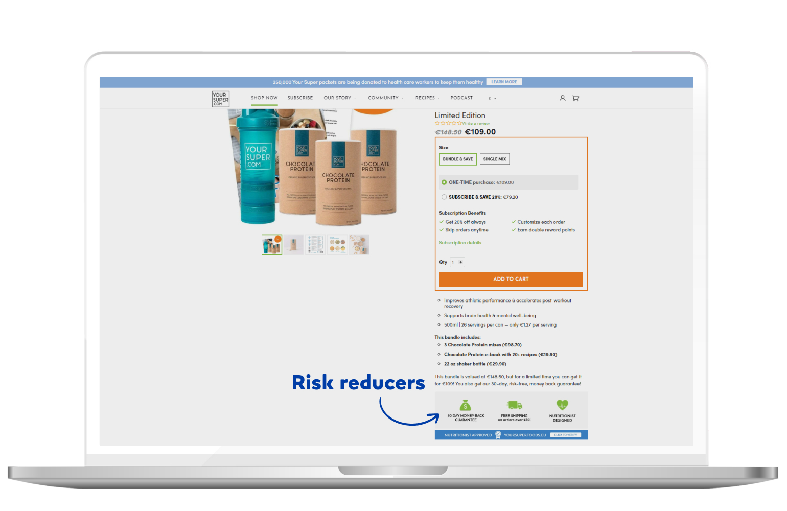 Risk reducers in eCommerce
