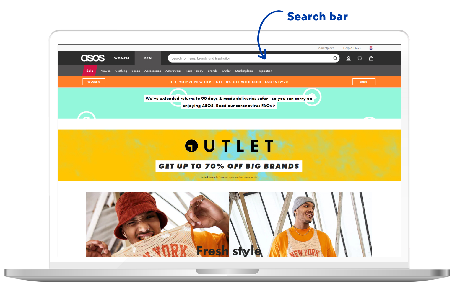 Search bar in eCommerce