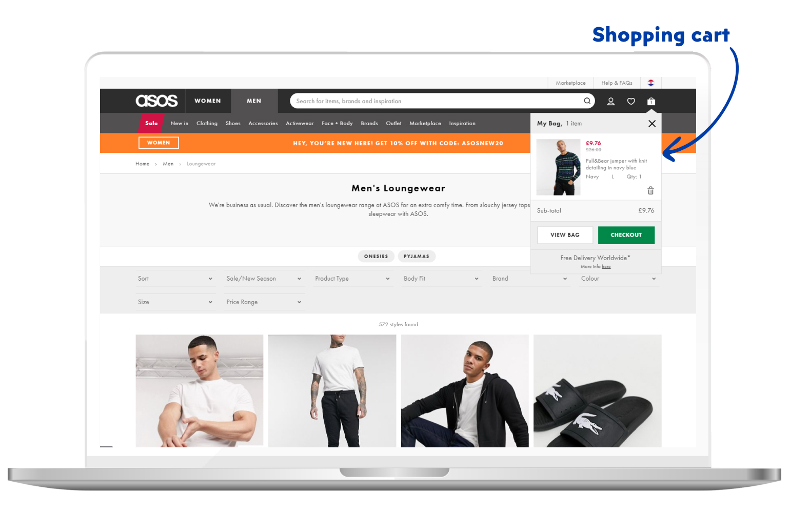 Shopping cart in eCommerce