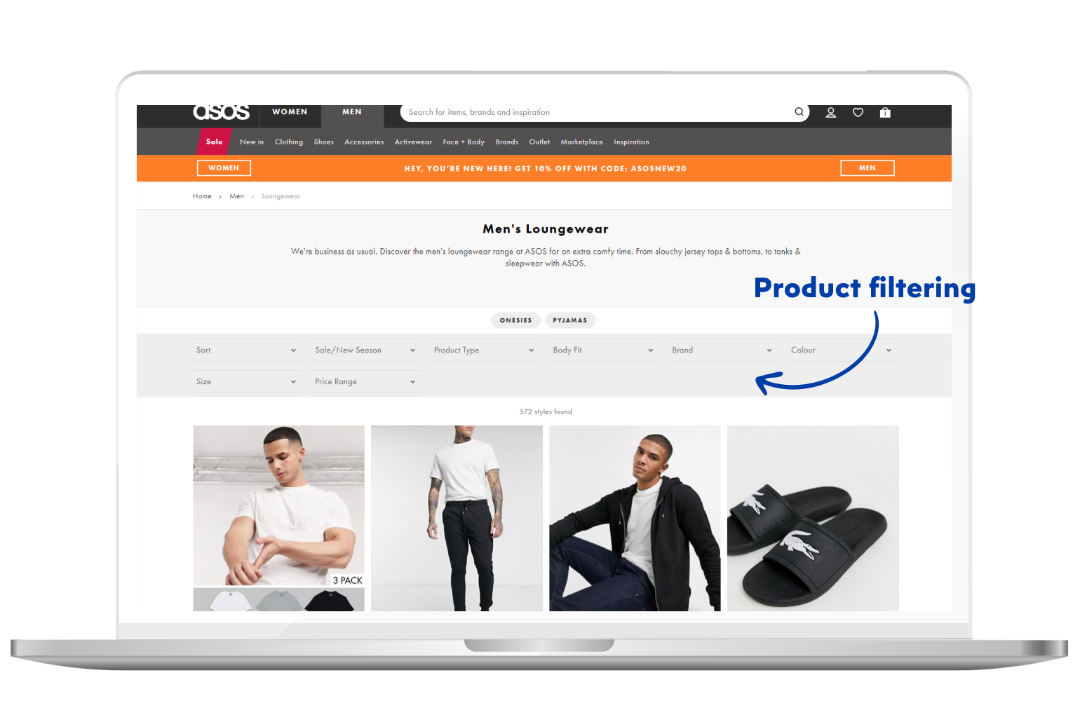 product filtering in eCommerce