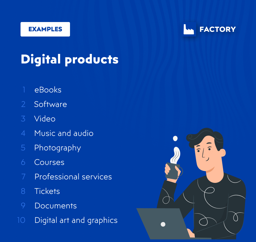 Digital products for digital commerce business