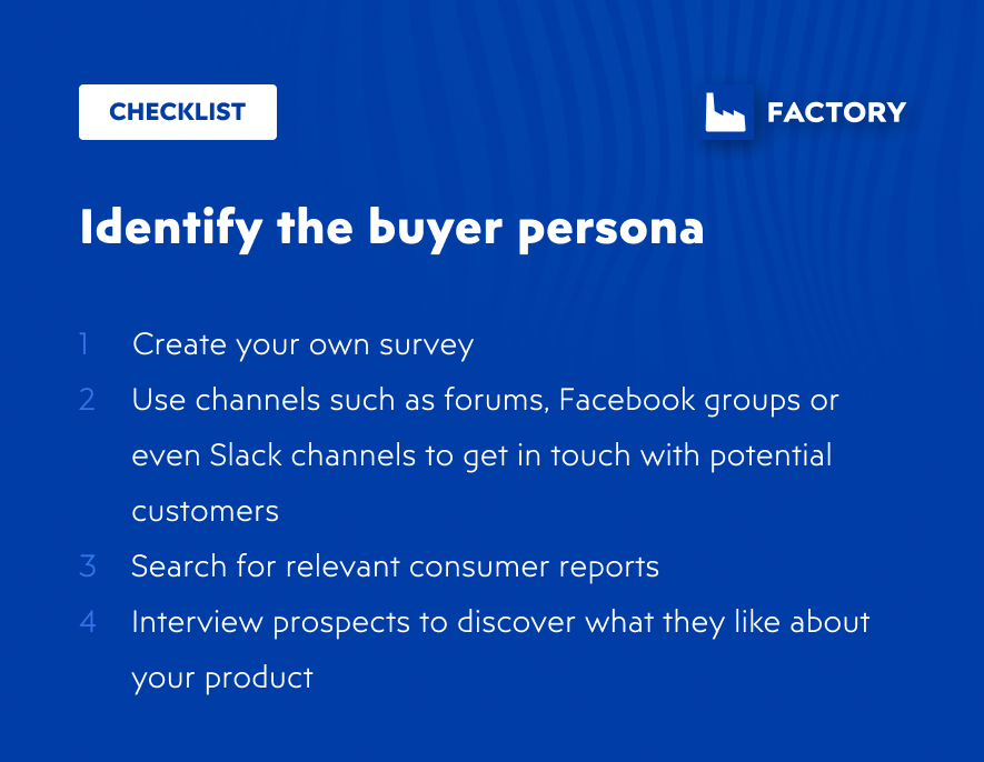 Identify the buyer persona