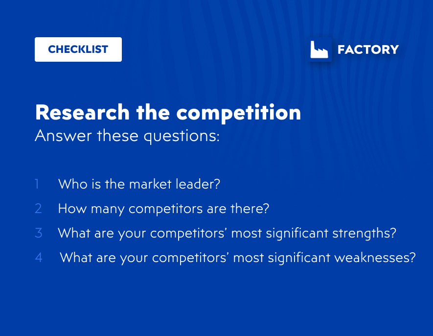 Research the competition for your digital commerce business