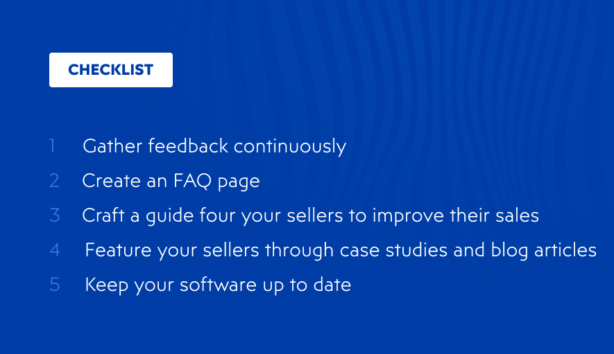Checklist for user retention on your online marketplace