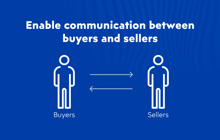 Enable buyers to communicate directly with sellers on your online marketplace