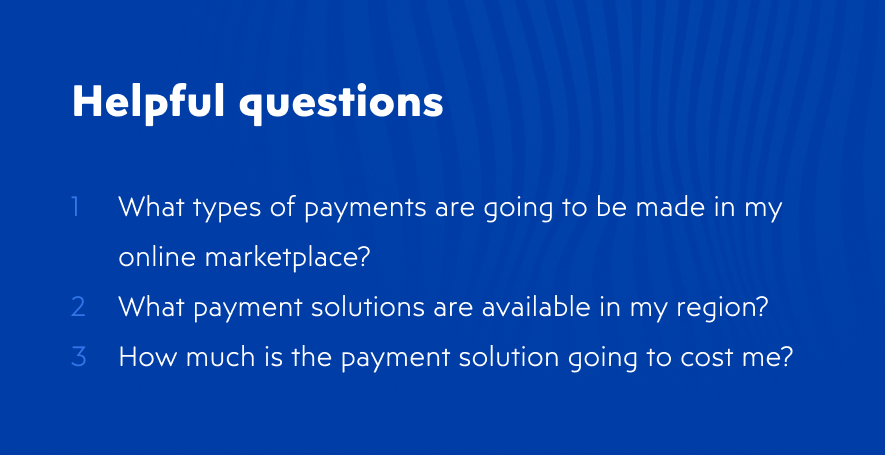 How to choose a payment solution for online marketplace