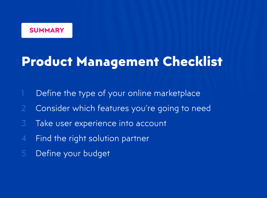 Summary for choosing software solution for your online marketplace