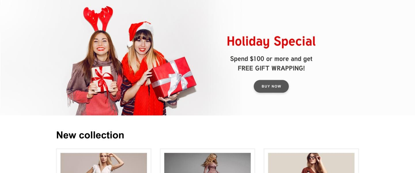 Christmas style stock photo for eCommerce