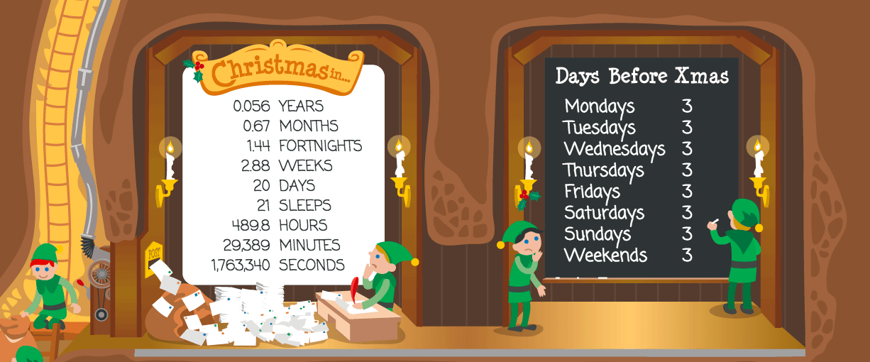 Countdown until christmas - Christmas eCommerce feature