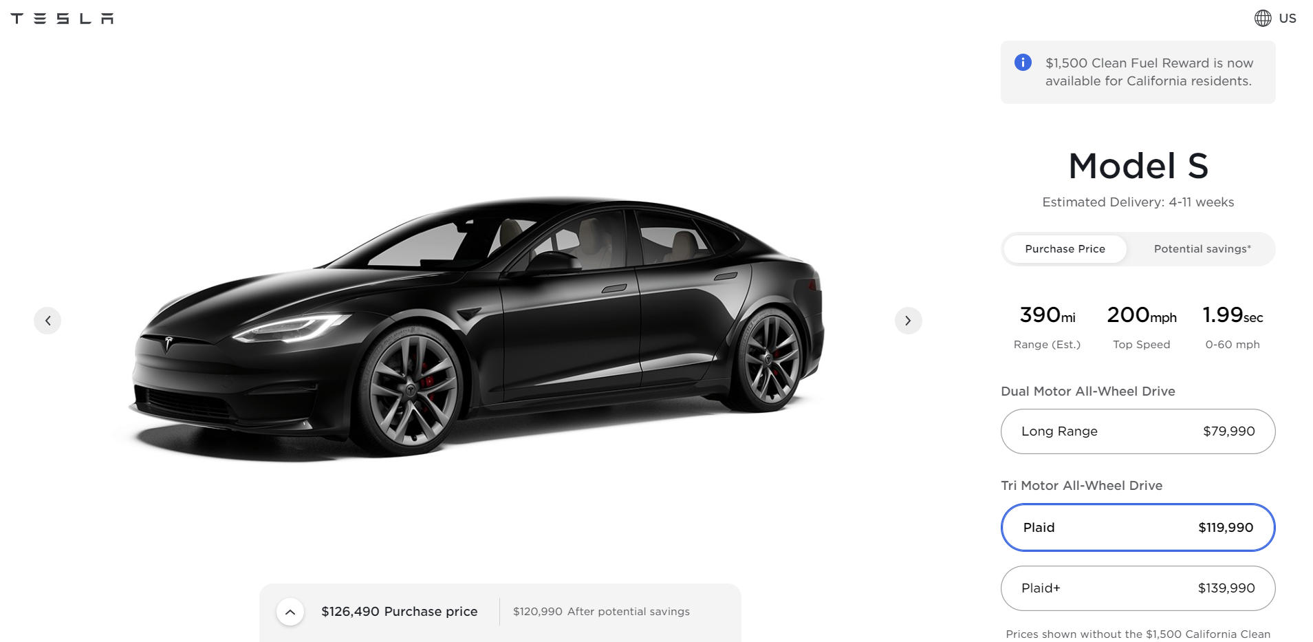 Tesla as an example of successful product configurator