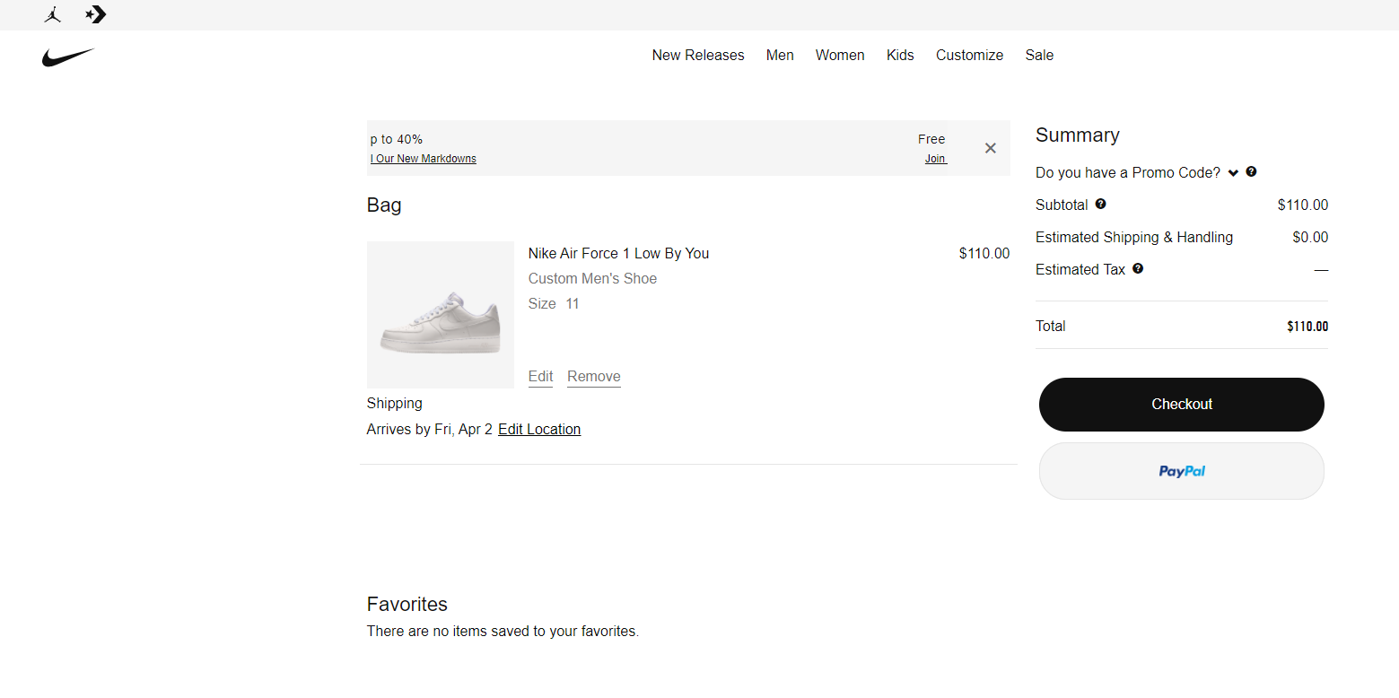 Using Nike By You product configurator