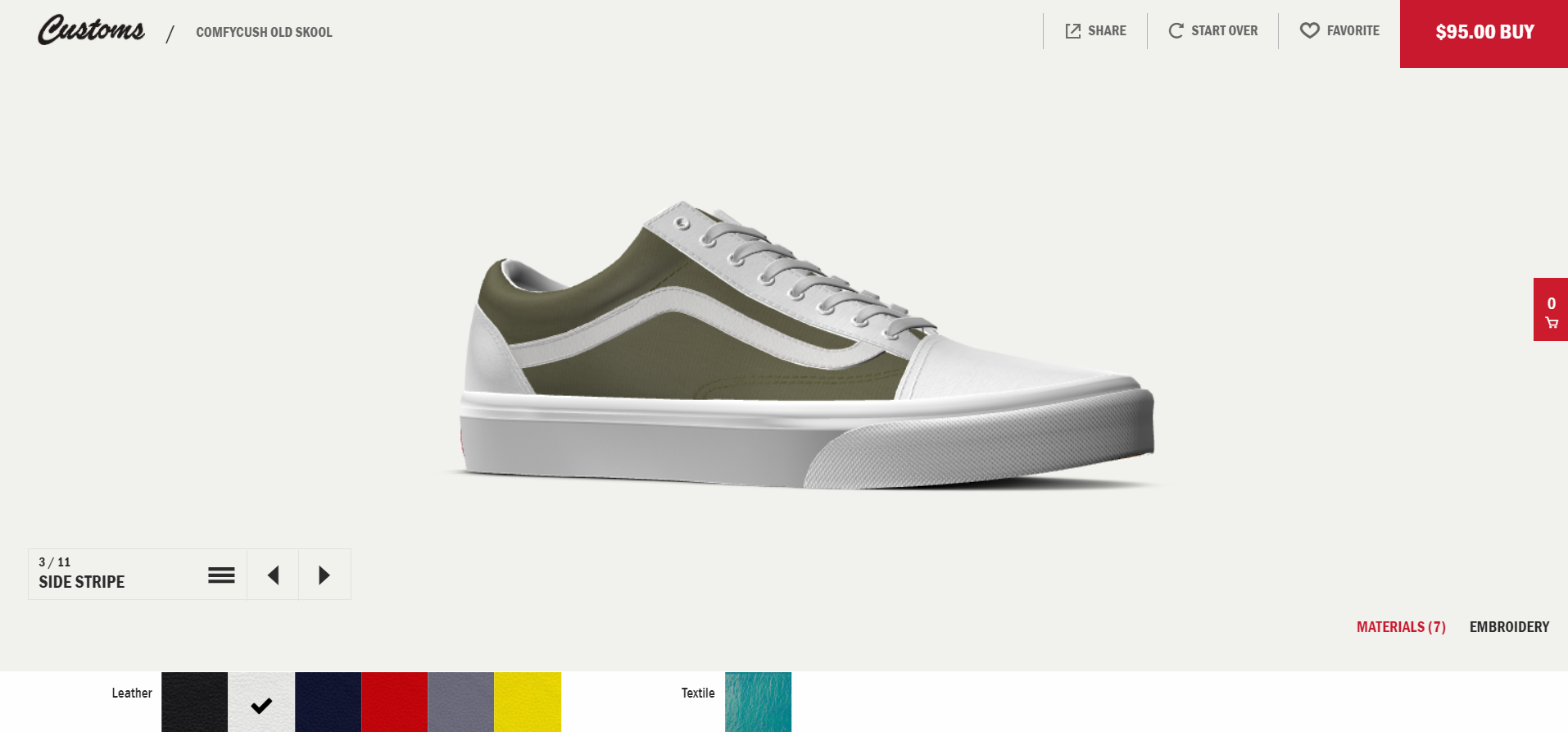 Vans product configurator - one of the best practices
