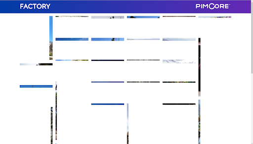 Partially loaded image gallery before using Pimcore thumbnails